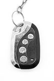 Car remote control isolated on white royalty free stock photography