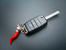 Car remote control with talisman Stock Photo