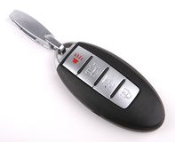 Car Remote Key with chrome buttons Royalty Free Stock Photos