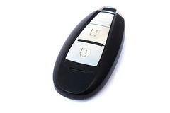 Car remote. Key on white background Royalty Free Stock Photo