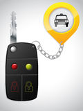 Car remote with taxi keyholder Royalty Free Stock Images