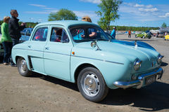 The car Renault Dauphine on the parade of vintage cars in Kerimyaki Royalty Free Stock Photo