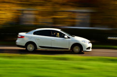 Car renault in move Stock Images