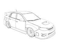 Car rendering in lines Royalty Free Stock Image