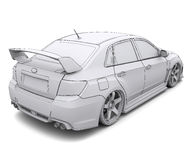 Car rendering in lines Stock Image
