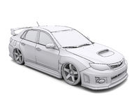Car rendering in lines Stock Photos