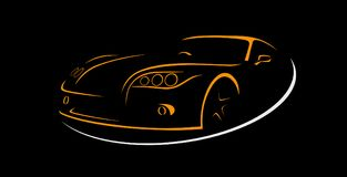 Car Rent Abstract Lines Vector. Logo. Vector illustration Royalty Free Stock Photo
