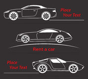Car Rent Abstract Lines Vector. Set. Vector illustration Stock Photo