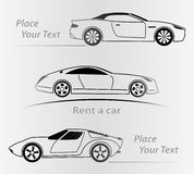 Car Rent Abstract Lines Vector. Set. Vector illustration Royalty Free Stock Photos