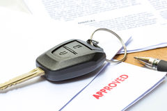 Car Rent or Car Loan Approved Stock Image