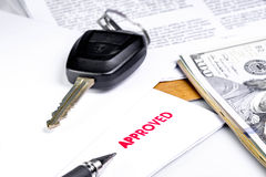 Car Rent or Car Loan Approved Stock Photography