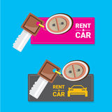 Car rent concept vector flat banner Royalty Free Stock Photo