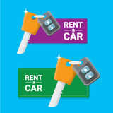 Car rent concept vector flat banner Royalty Free Stock Images