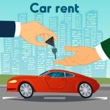 Car Rent. Hand Passing Car Keys Royalty Free Stock Photo