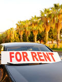 Car for rent in the street Stock Photography