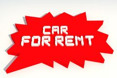 Car. For Rent Tags Royalty Free Stock Photos