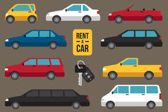 Car rent types Royalty Free Stock Images