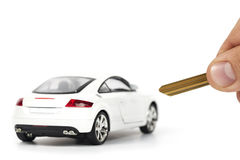 Car rental. Close-up photograph of car rental concept Stock Image