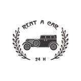 Car rental badge Royalty Free Stock Photography
