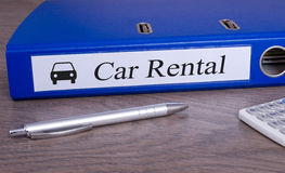 Car Rental Binder in the Office Stock Images
