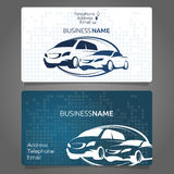 Car rental business card. For the company Royalty Free Stock Photography