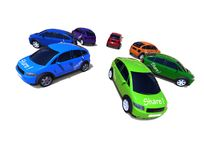 Car rental concept Stock Images