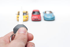 Car rental fleet Stock Photos
