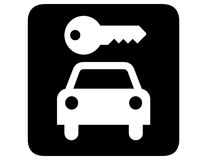 Car rental inverted. Symbol system sign for car rental inverted Royalty Free Stock Photography