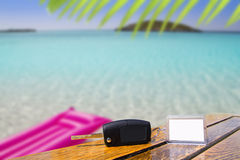 Car rental keys in vacation Caribbean Stock Image