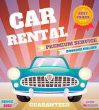 Car rental retro poster Royalty Free Stock Photos