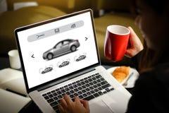 Car Rental Salesman Automobile Vehicles Car Rentals Transportati. On Stock Photo