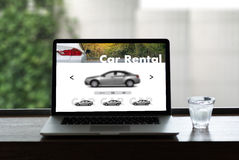 Car Rental Salesman Automobile Vehicles Car Rentals Transportati. On Royalty Free Stock Photo
