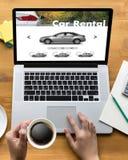 Car Rental Salesman Automobile Vehicles Car Rentals Transportati. On Stock Image