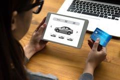 Car Rental Salesman Automobile Vehicles Car Rentals Transportati Royalty Free Stock Photos