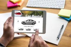 Car Rental Salesman Automobile Vehicles Car Rentals Transportati Royalty Free Stock Photo