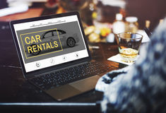 Car Rental Salesman Automobile Vehicles Concept.  royalty free stock images