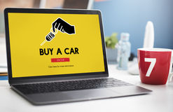 Car Rental Used Car Transportation Vehicle Concept Stock Photography