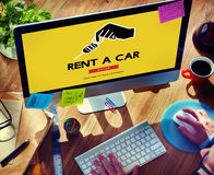 Car Rental Used Car Transportation Vehicle Concept Stock Photo