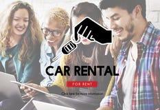 Car Rental Vehicle Transportation Service Concept Royalty Free Stock Images