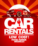 Car rentals design template. Stock Photography