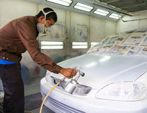 Car repainting royalty free stock photo