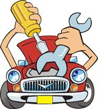 Car repair stock illustration