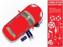 Car repair. Auto mechanic under car Royalty Free Stock Images