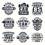 Car repair badges Royalty Free Stock Image