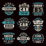 Car repair badges Royalty Free Stock Images