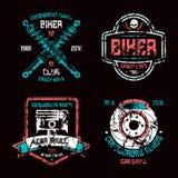 Car repair and biker club emblems Royalty Free Stock Images