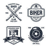 Car repair and biker club emblems Stock Photography