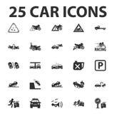 Car, repair 25 black simple icons set for web Stock Photos