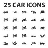 Car, repair 25 black simple icons set for web. Design Stock Photos