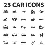 Car, repair 25 black simple icons set for web Royalty Free Stock Photography